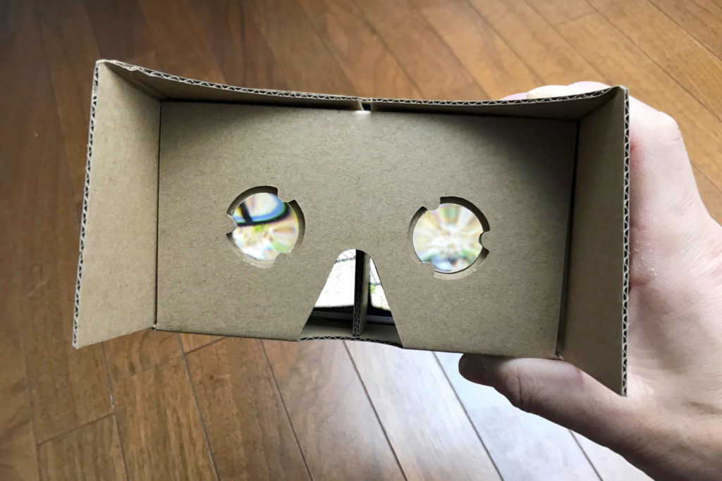 VR Goggles 使用イメージ