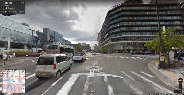 Googleストリートビュー京都タワー前